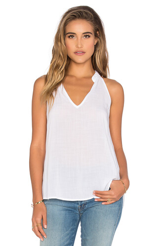top halter top back white