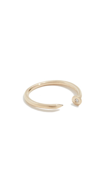 Sydney Evan 14k Nail Ring in gold / yellow