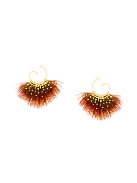 Gas Bijoux women earrings gold brown jewels