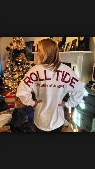 shirt alabama roll tide spirt jersey crimson
