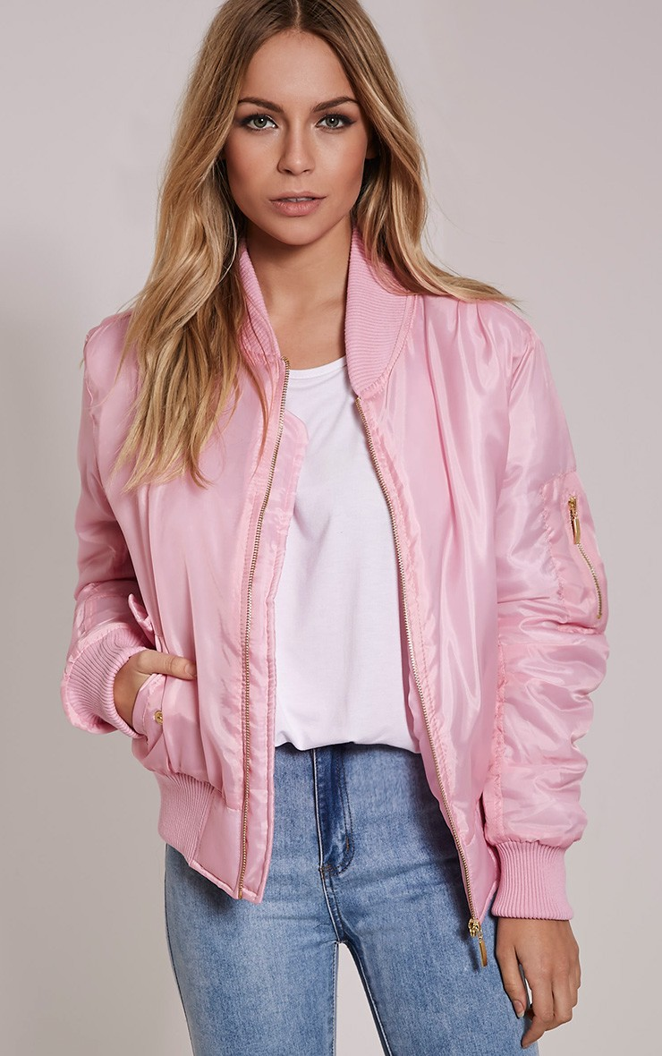 Pink Bomber Jacket - Coats & Jackets - PrettylittleThing ...