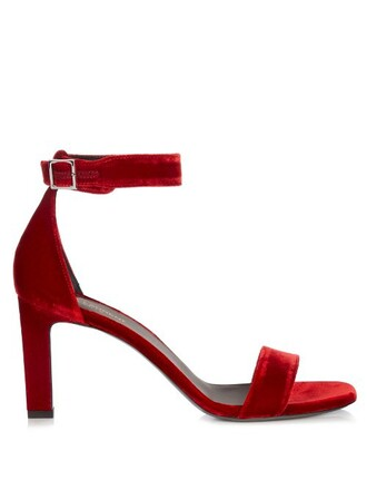 sandals velvet red shoes