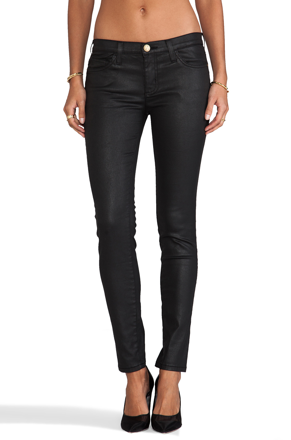 Current/Elliott The Ankle Skinny in Black Coated | REVOLVE