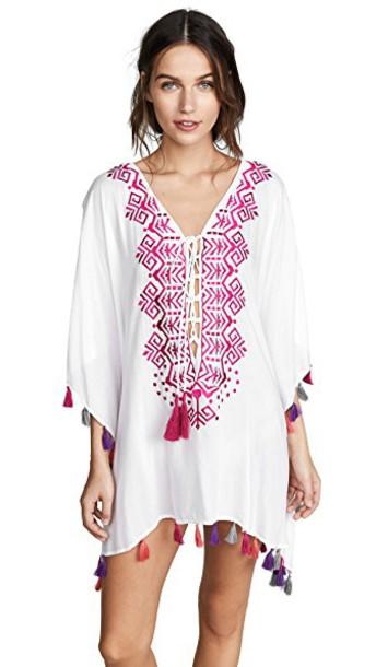 Bindya tunic lace pink top