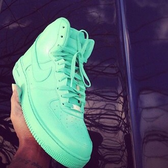 shoes nike nike air force green mint nike air force 1 nike shoes bag cute fashion sneakers mint green shoes nike air force 1 high top all green beautiful white turquoise turquoise shoes