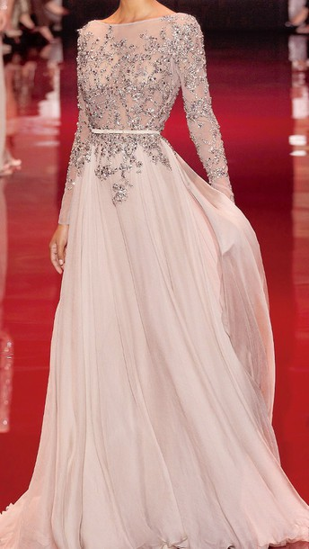 Prom Dress Prom Dress Formal Flesh Colour Pastel Pink Dress