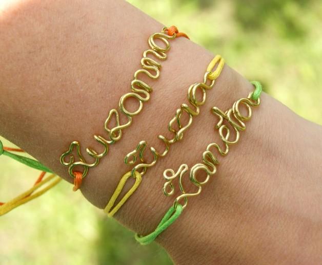 Braccialetti & Polsini - braccialetto personalizzato con la parola o il nom - un prodotto unico di SheBijou su DaWanda
