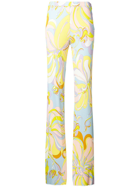 women silk yellow orange pants