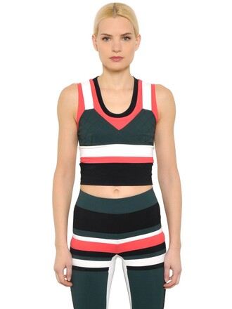 top layered black green red