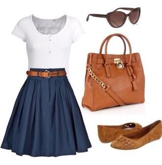 skirt high waisted  skirt blue skirt flats