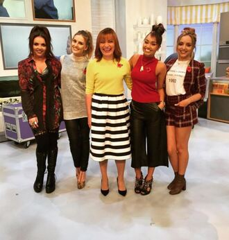 sweater pants little mix perrie edwards jade thirlwall leigh-anne pinnock jesy nelson instagram top shorts jacket