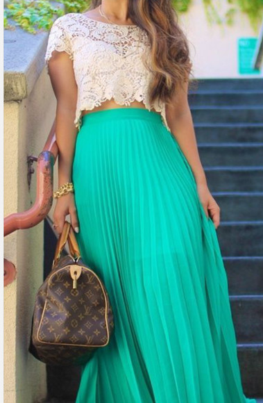 maxi skirt maxi skirt blouse lace top