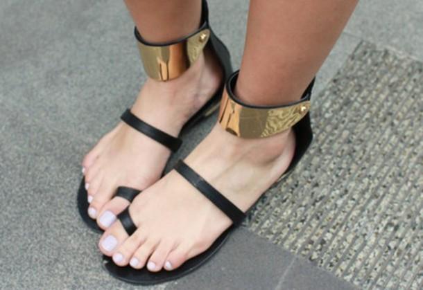 shoes sandals style gold sequins