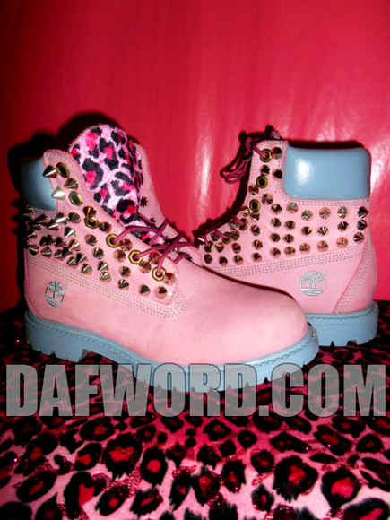 shoes spikes timberlands leopard print leopard timberlands spike timberlands pink leopard pink leopard timberlands