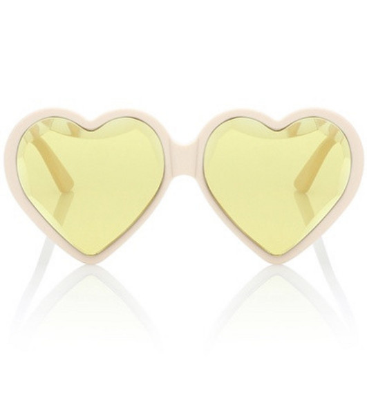 Gucci Heart-frame acetate sunglasses in yellow