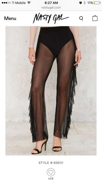 pants sheer pants see through nastygal