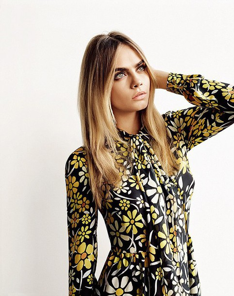 dress floral cara delevingne