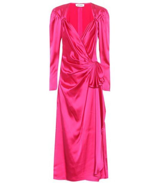 dress satin dress satin pink