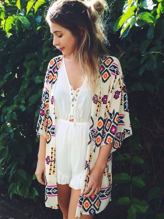 cardigan kimono japanese chinese asian boho hippie hipster music festival coachella jumpsuit