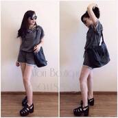 jumpsuit,sporty,style,trendy,lovely,top,short,grey,sportswear,comfortable outfit,shoes