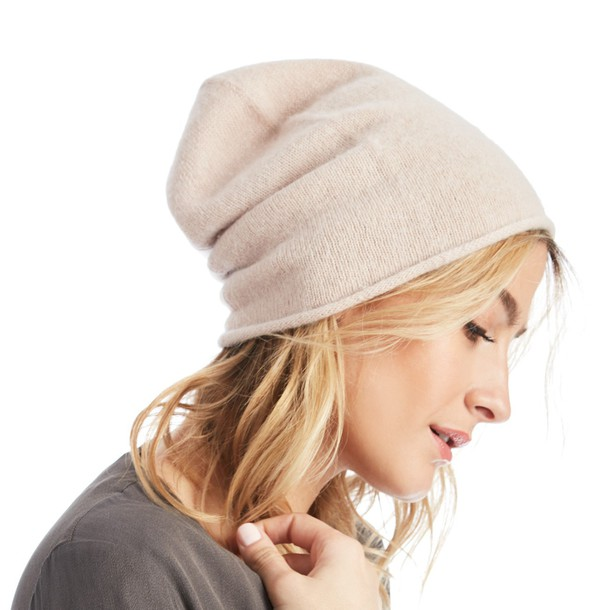 Sole Society Lightweight Wool Beanie  - Dusty Rose-One Size
