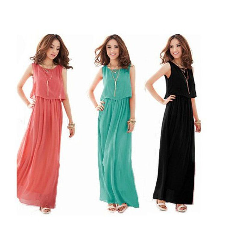 DropFree shipping A1002 accusing summer 2014 sleeveless chiffon dress bohemian dress beach dress NZ28B13 | Amazing Shoes UK