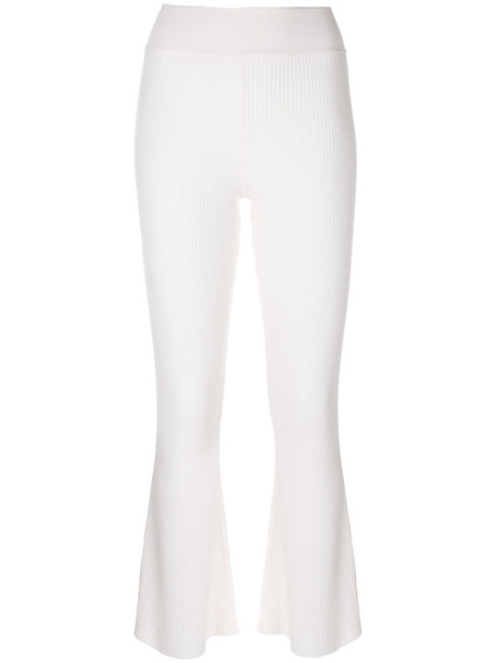 Cashmere In Love women white wool knit pants