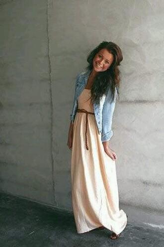 dress maxi peach