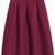 ROMWE | ROMWE Retro Zippered Pleated Red Skirt, The Latest Street Fashion