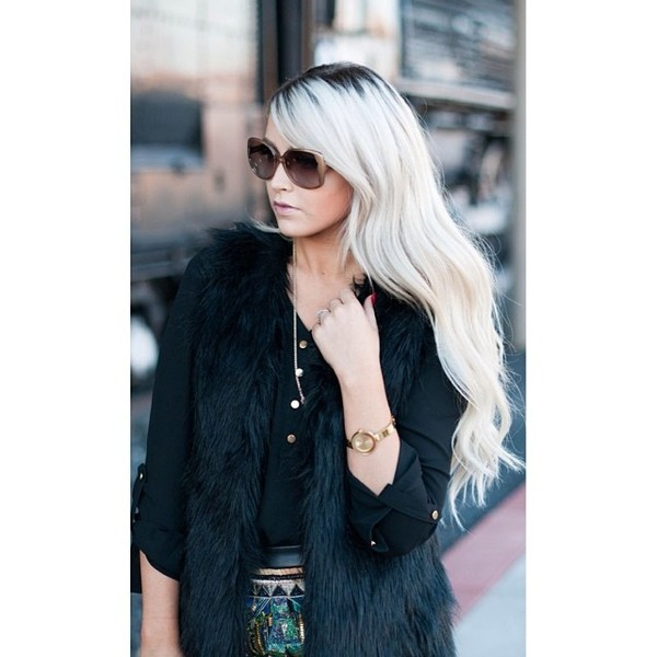 coat vest fur vest faux fur vest faux fur fashion blogger style blogger ootd fashion style stylish escloset