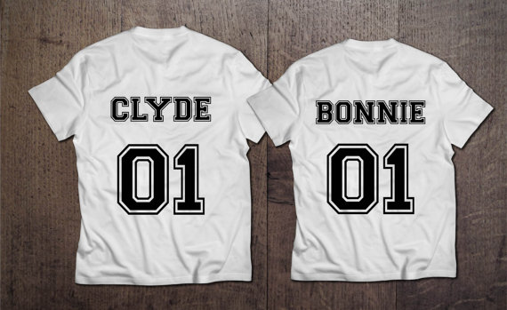 Bonnie 01 Clyde 01 , Bonnie Clyde couples t shirt , Bonnie Clyde couple shirts , pärchen , Bonnie Clyde , Black edition CUSTOM NUMBERS