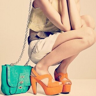 orange shoes shoes