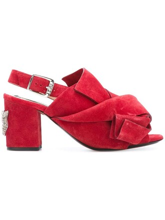 metal women sandals leather suede red shoes