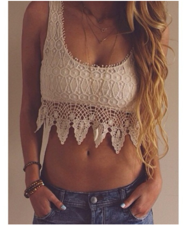 top bralette crop tops crochet