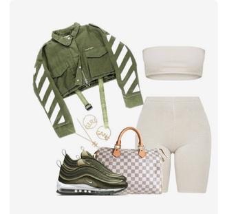 jacket green set tights