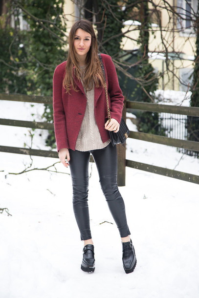 style and trouble blogger jacket leather leggings black shoes
