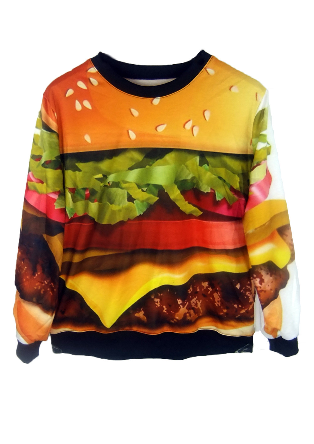 Women Coats Winter Clothings Hamburger Galaxy Sweatshirts Printed Hoodies Plus | eBay