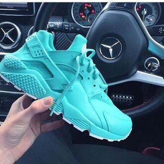 shoes nike air huaraches blue nike huarache turquoise basket summer