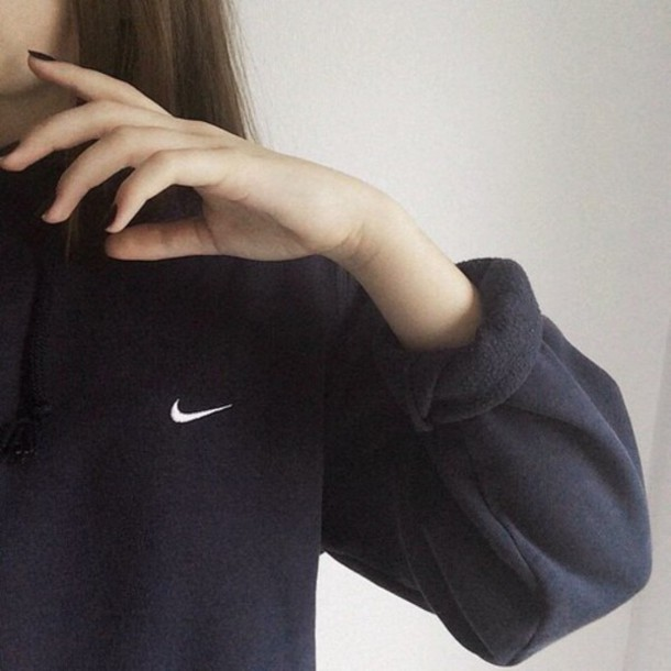 sweater nike sweater hoodie black sweater winter sweater nike vintage