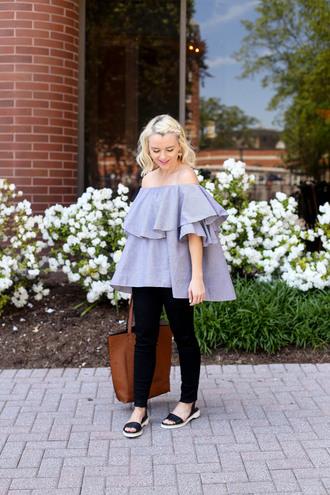 poor little it girl blogger top dress jeans shoes bag jewels