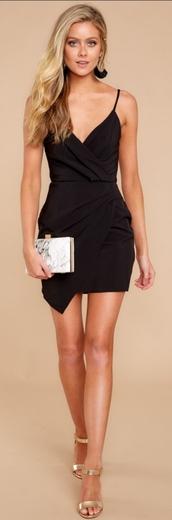 dress,black dress,asymmetrical,reddressboutique,red dress boutique,killing it dress