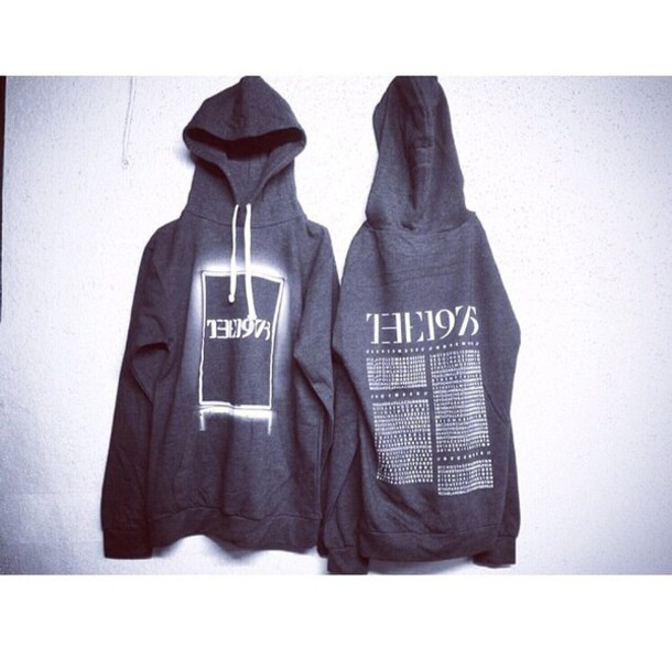 jacket hoodie the 1975 the 1975 sweater the 1975 blouse bands hoodie