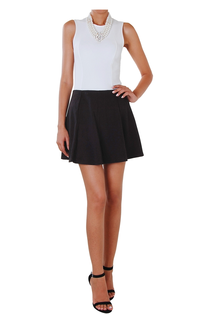 Little Black Skirt - Fit and Flare Wide Pleat Mini - Humblechic.com