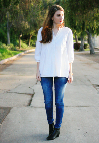 these days blogger white shirt shirt jeans shoes