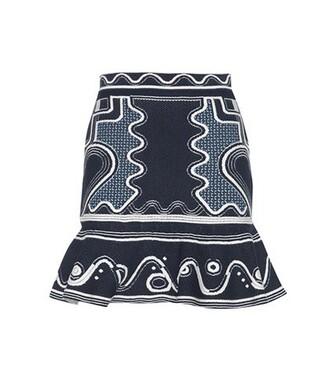 skirt jacquard blue