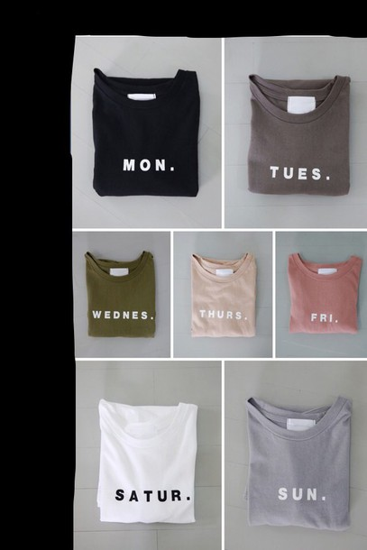 weekday t shirt