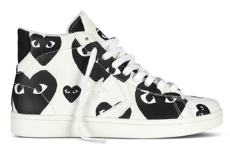 converse play commes de garçons heart rare swag hightops valentines day