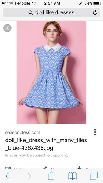 dress collared dress peter pan collar blue dress