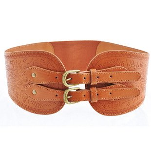 Aliexpress.com : buy 2012 fashion accessoriy: brown double clasp women's printing leather corset belt, cheap & free shipping & gift worldwide! from reliable corset leather belt suppliers on wedding honey. co., ltd.