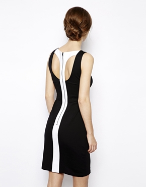 BCBG MaxAzria | BCBGMAXAZRIA Delilah Mono Dress at ASOS